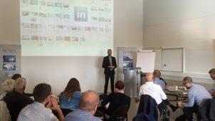 Torben Rønlev, Fiberline Composites A/S, gav et spændende indblik i, hvordan virksomheden arbejder med sociale medier i dagligdagen.