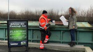 Indsamling af EPS på genbrugsplads