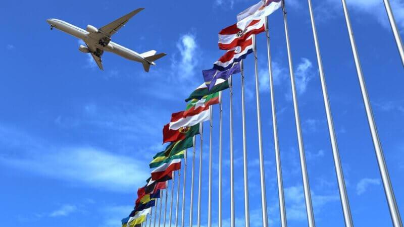 Fly og internationale flag