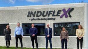 Plastindustriens sekretariat på besøg hos Induflex i Støvring.