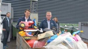 Legetøj fra dantoy på genbrugsplads
