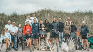 Race for Oceans stafetten og de mange deltagere d. 2. august i Thorsminde.