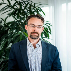 Henrik Palokangas, bæredygtighedsspecialist for polymermaterialer på Polykemi i Ystad.
